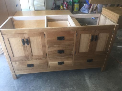 Custom Made Double Sink Vanity