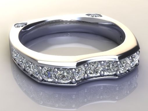 Custom Made Ladies 14k Diamond Wedding Set .50 Ct Center With Engagement Band 1.9 Ct Total