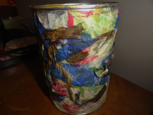 Custom Made Tin Can Vase
