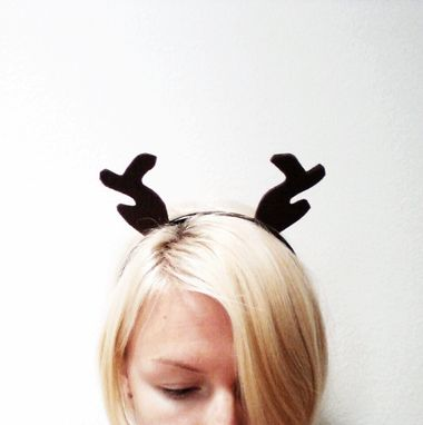 Custom Made Brown Antler Headband, Halloween Costume Or Dress Up Brown Reindeer Antlers For All Ages