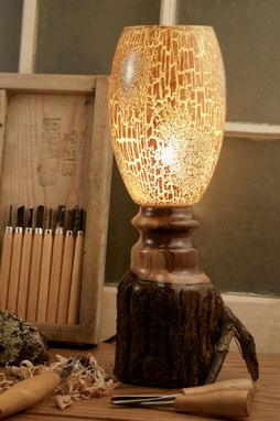 Custom Made Natural Rustic Walnut Lamp