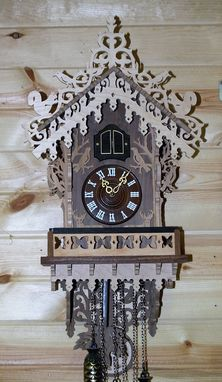 Custom Made Fretwork Cuckoo Clock