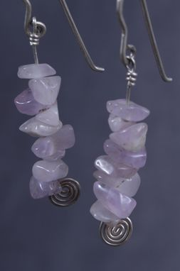 Custom Made Dangling Earrings With Pink Aventurine