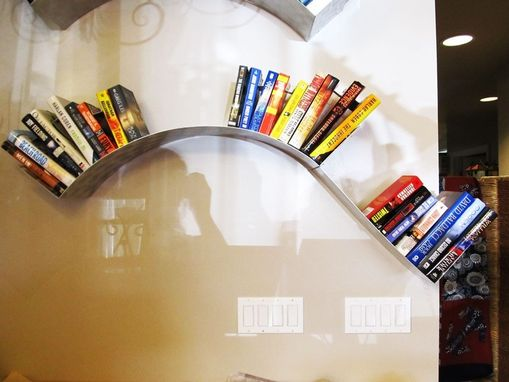 Custom Made Hanging Wave Wall Bookshelf