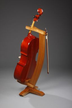 Custom Made Cherry Cello Stand