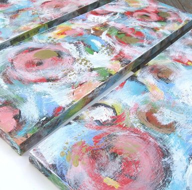 Custom Made Sale, Pink Abstract Paintings Original Acrylic On Canvas