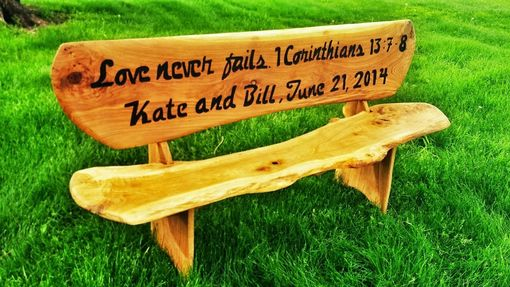 Custom Made 6' Custom Engraved Wooden Bench