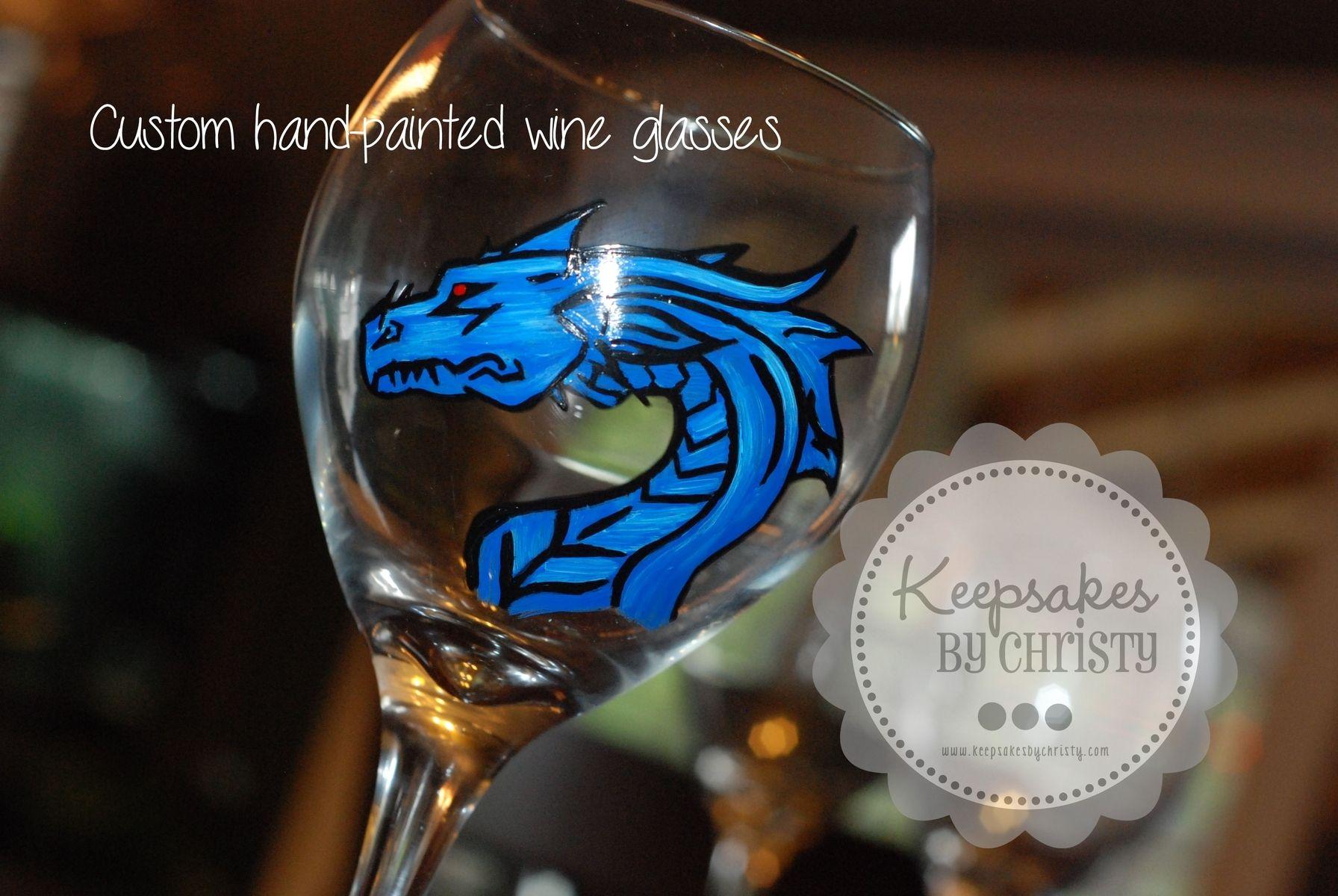 Custom Made Hand Painted Wine Glasses By Keepsakesbychristy