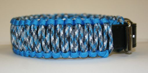 "Custom Made 14""-18"" Blue Camo Collar"