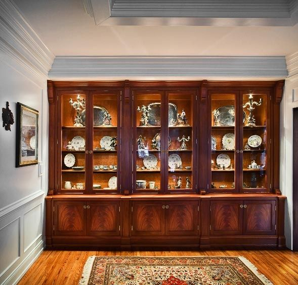 Custom Made Traditional China Cabinet By Cabinetmaker