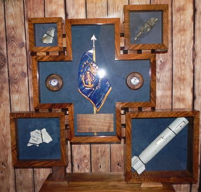 Custom Made The General's Guidon/Shadow Box