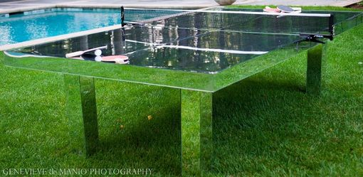 Custom Made Mirror Acrylic Ping Pong Table