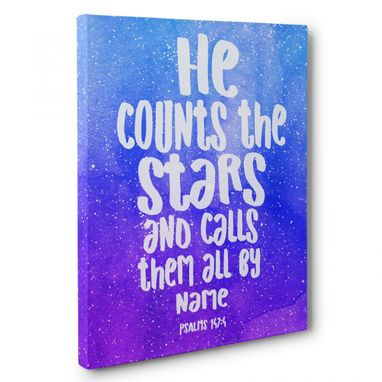 Custom Made Counts Stars Canvas Wall Art