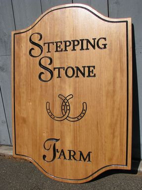 Custom Made Custom Wood Sign For A Farm