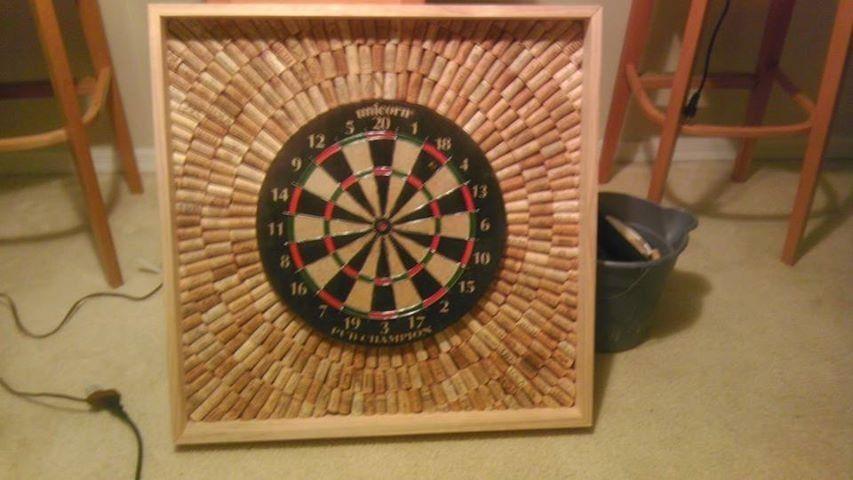 Handmade Salvaged Wine Cork Dart Boards All Cork No