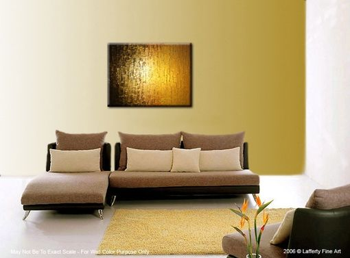 Custom Made Gold Bronze Impasto Palette Knife Original Abstract Metallic Contemporary Painting
