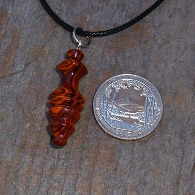 Custom Made Hand Turned Pendant Of Cocobolo Wood