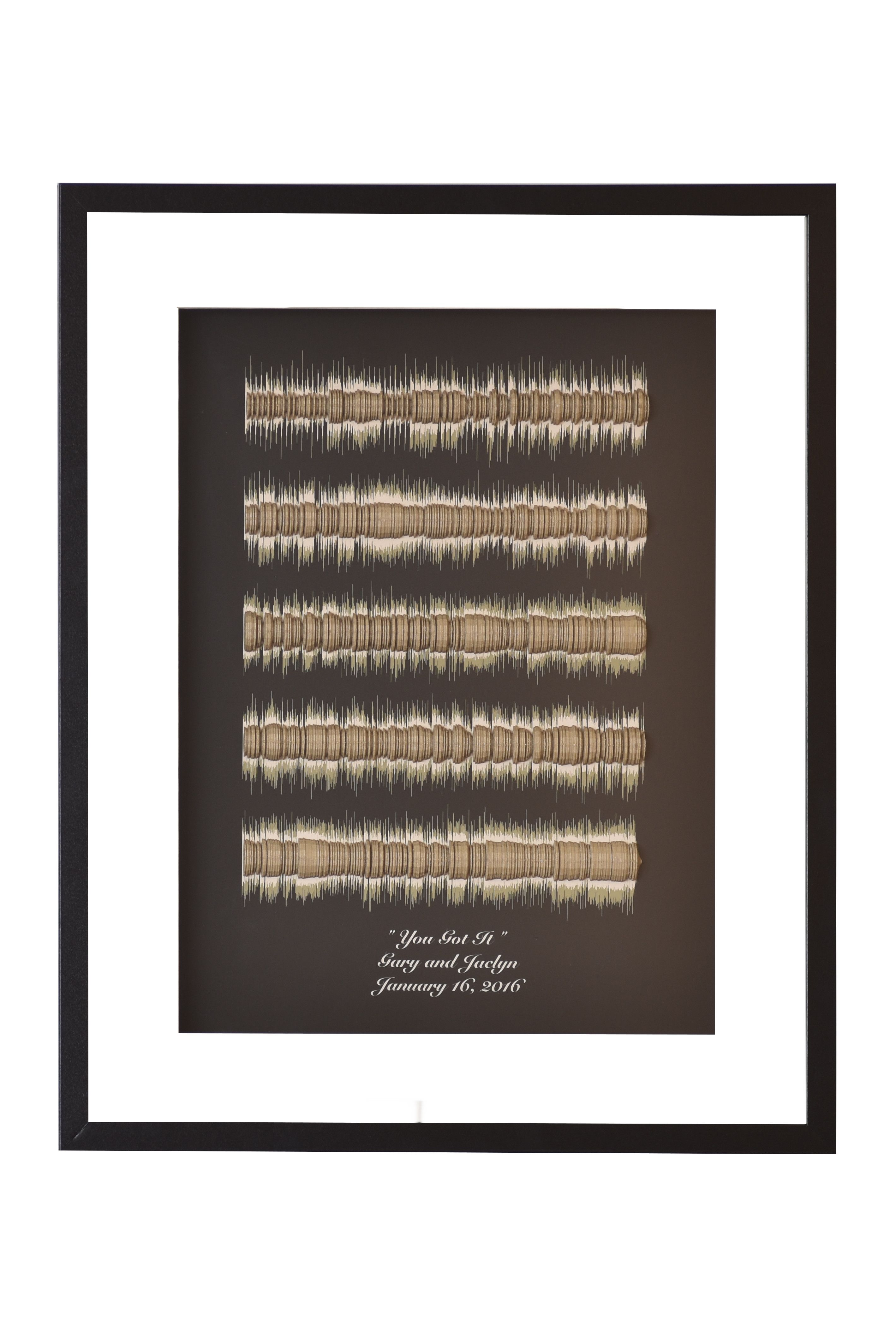 Buy A Custom Made Song Lyrics 3d Sound Wave Art Wedding Song