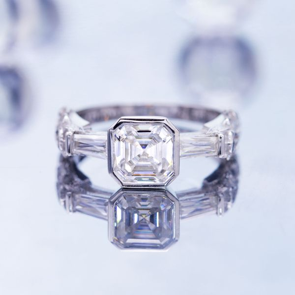 Asscher cut diamond.