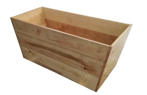 Custom Made Maple Freestanding Rectangular Ofuro Bathtub - Solid Wood