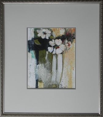 Custom Made White Poppy, Mixed Media, Painting, Floral
