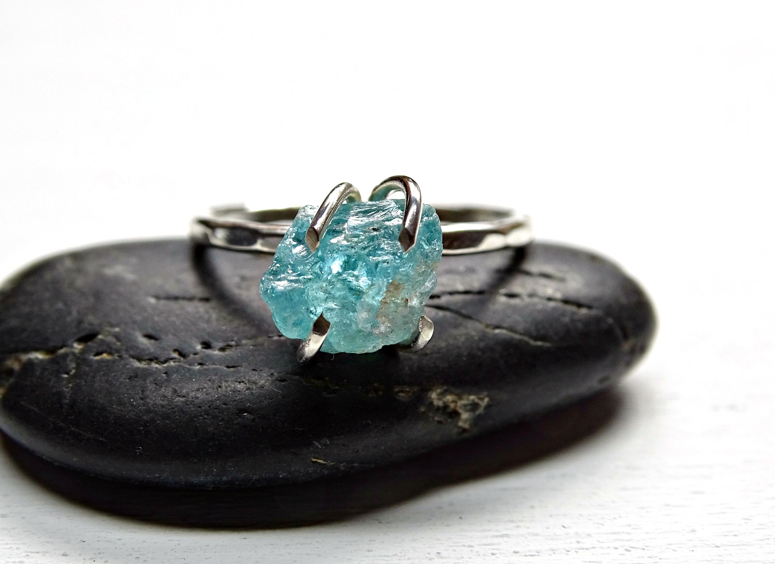 ring raw products jewelry turquoise rings engagement blue thoughts aquarian delicate