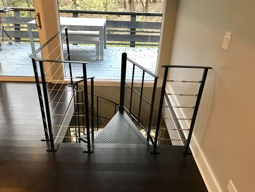 Custom Made Steel And Cable Stair Rail
