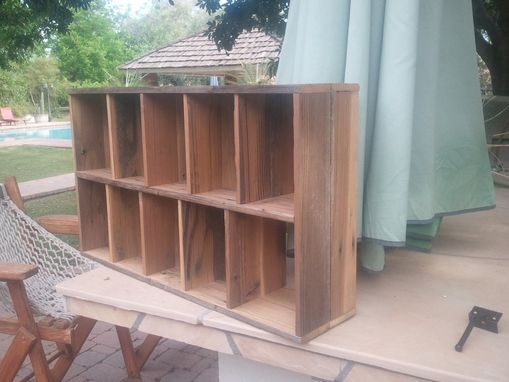 Custom Made Wooden Cubbyhole Shelf With 10 Compartments