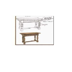 Custom Made Otbl-10 Lg, Carved Sofa Table
