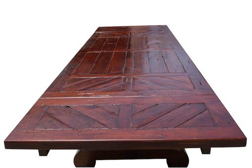 Custom Made Lourdes Dining Table - Parquet Top
