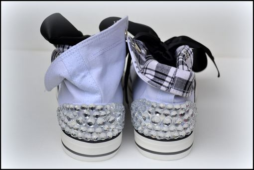 Custom Made Girls Rhinestone Hightops, Girls Bling Shoes, Custom Rhinestone Shoes, Size 6, Tween