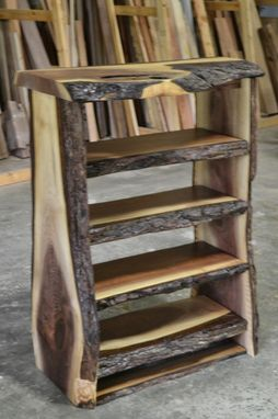 Custom Made Live Edge Walnut Bookcase