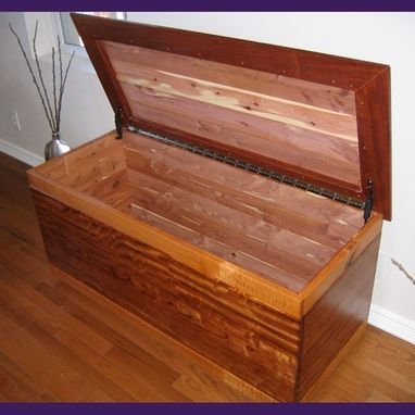 Custom Made Cedar Chest With Lace Wood One-Of-A-Kind: