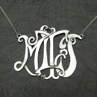 Custom Made Custom Designed Intertwine Monogram Pendant