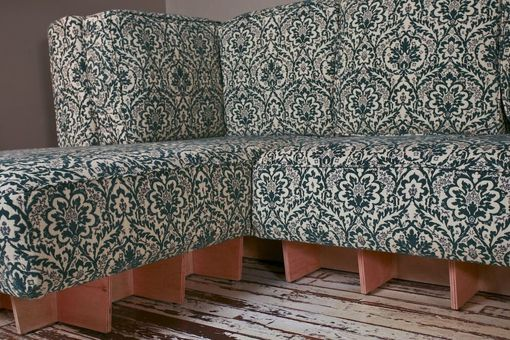 Custom Made 12' Modern Patterned Couch
