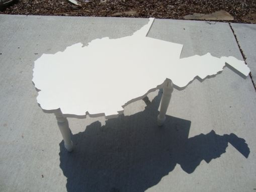 Custom Made West Virginia Shaped Coffee Table