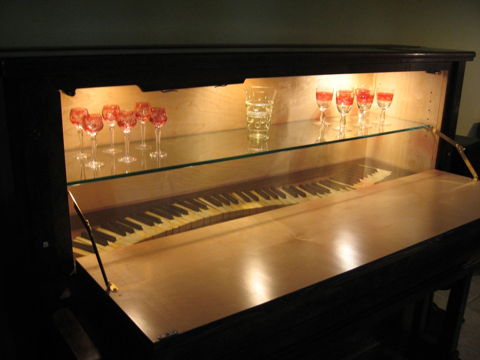 hidden bar furniture. Custom Made Piano/Bar Cabinet Hidden Bar Furniture