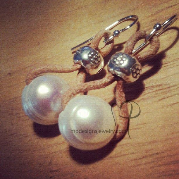 Custom Made Embrace Freshwater Pearl Leather Sterling