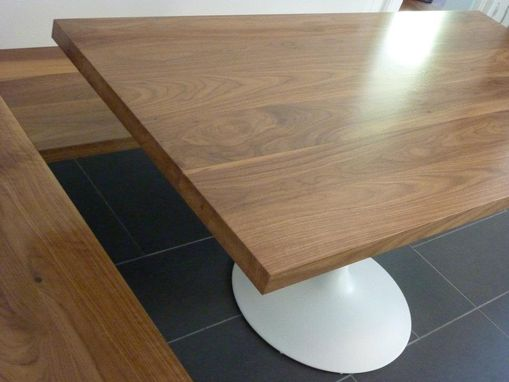 Custom Made Walnut Kitchen Corner Bench And Table