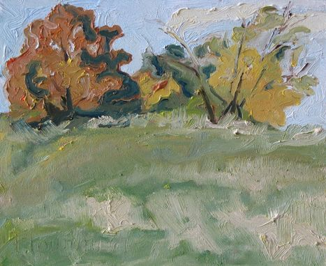 Custom Made Original Oil Painting Plein Air Landscape Canada Fournier Appalachian Quebec Autumn In The Townships