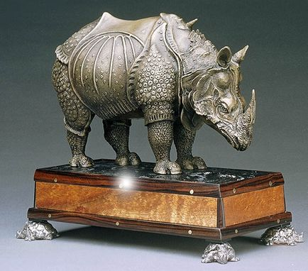 Custom Made Rhinoceros Desk- A Private Commission Never Shown In Public