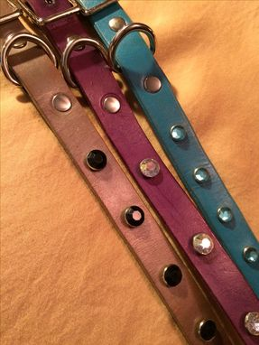 "Custom Made 3/4"" Leather Dog Collars"