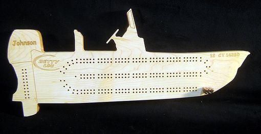 Custom Made Custom Boat Shape Cribbage Board