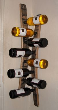 Custom Made Hanging Corner Wine Racks Made From Barrel Staves