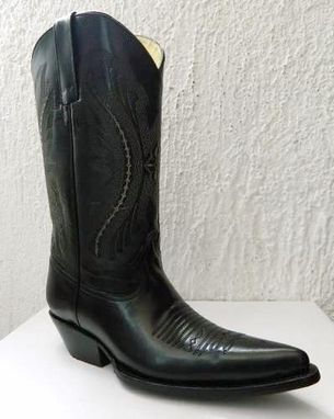 Custom Made Elongated Sharp Toe 5 Inch Heels Full Grain Leather Cowboy Boots All Men Sizes