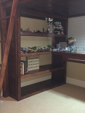 Custom Made Maple Loft Bed With Desk And Book Shelves