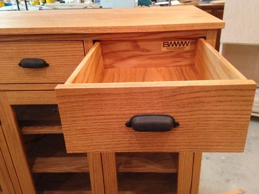 Custom Made Oak Buffet