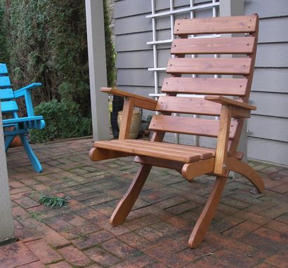 Custom Made High Back Cedar Armchair For Garden & Patio - 16 Colors Available - Handcrafted By Laughing Creek