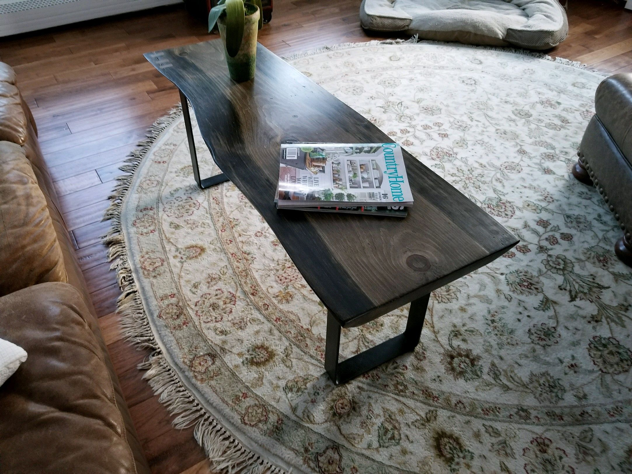 Handmade Live Edge Spaulted Pine Coffee Table By Snhwoodworks