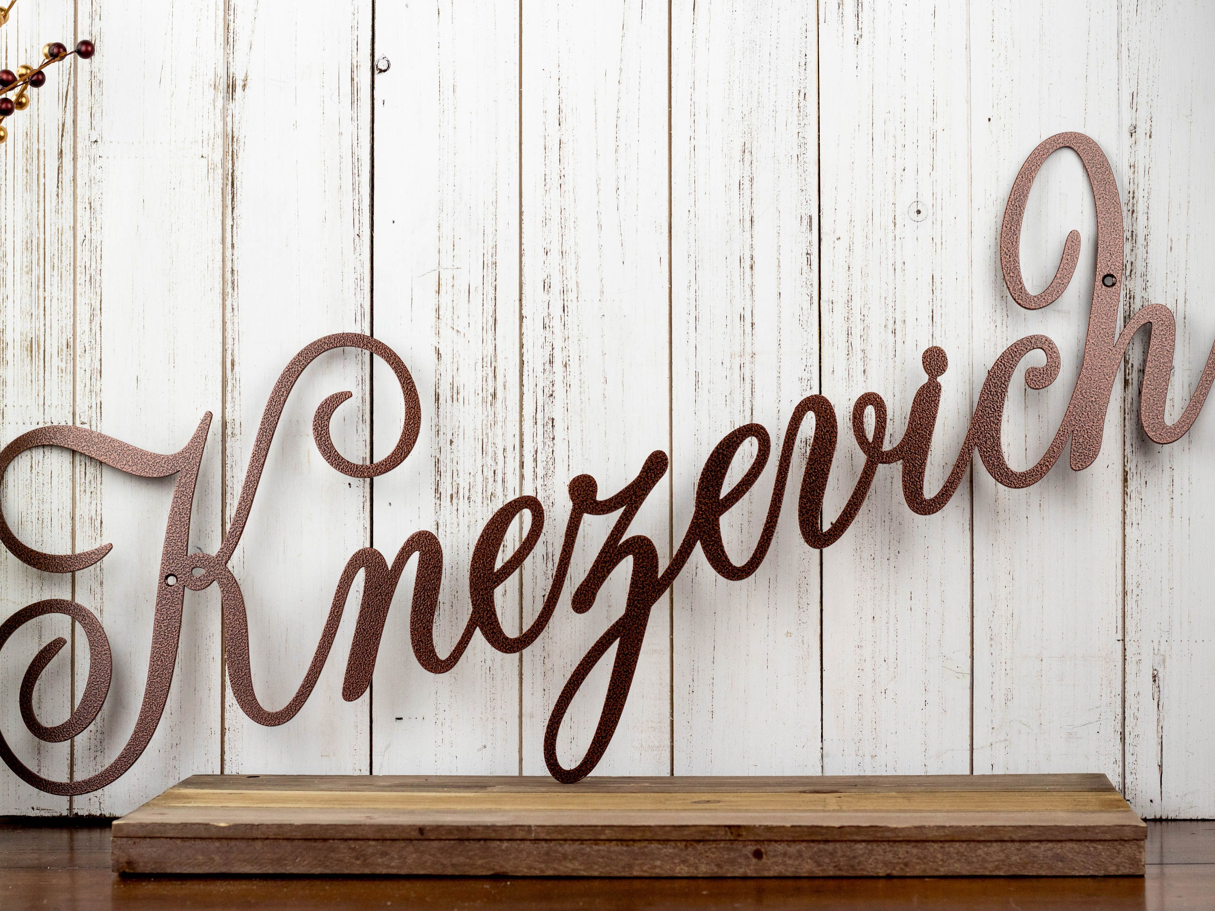 buy a hand crafted custom family name metal sign  made to order from refined inspirations  inc